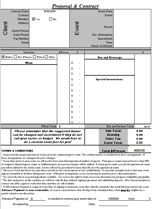 Event Planner 1  Event Planner Contract Example